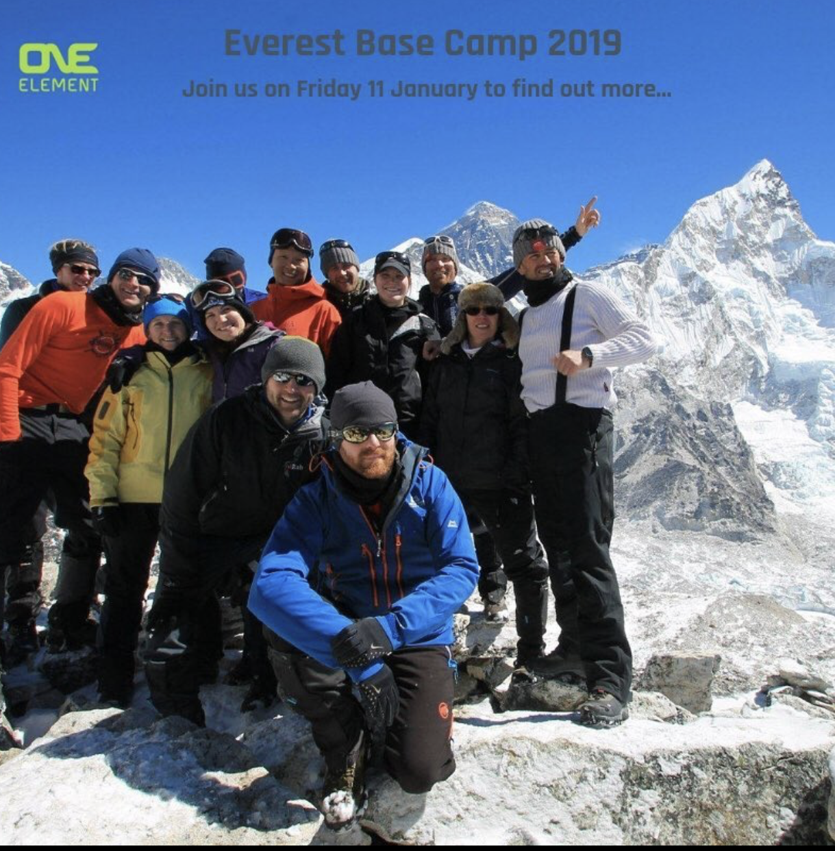 Everest Base Camp meeting – Friday 11th January 2019
